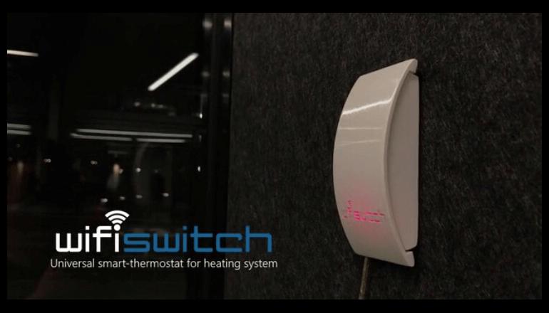 室温一元管理のサーモスタット「WifiSwitch」管理や消費量節約に便利