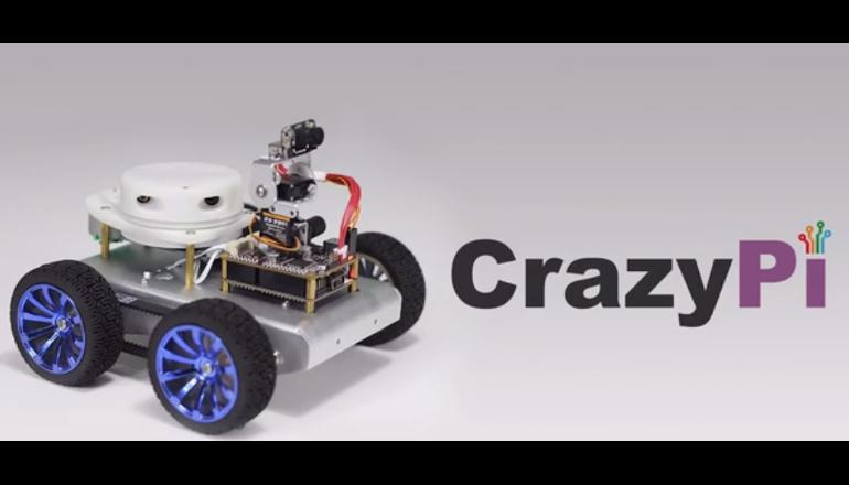 個人向けロボットキット「CrazyPi」DIYでオリジナルロボを作成
