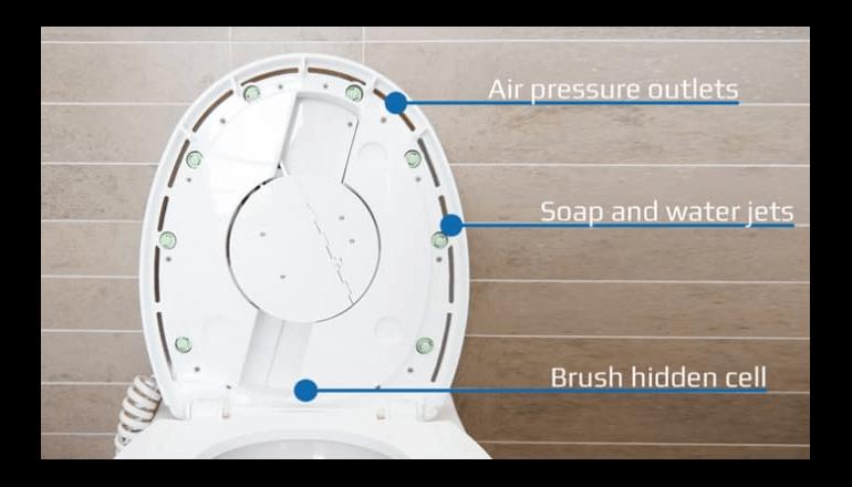わずらわしいトイレ掃除はロボットにお任せ「SpinX」