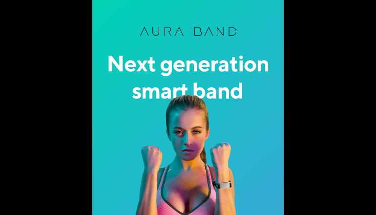 色で情報を伝えてくれるヘルスケアウェアラブルデバイス「AURA」