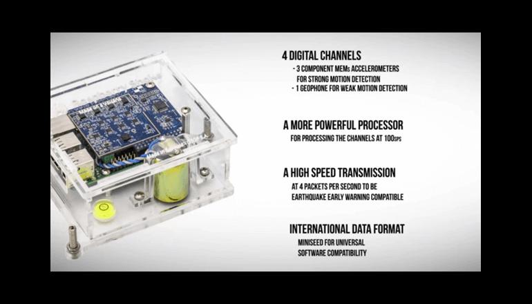 振動をキャッチする「Raspberry Shake 4D」で防災対策