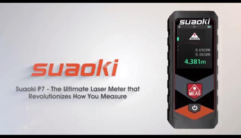 レーザーで距離を測定する「Suaoki P7」データはアプリで閲覧可能
