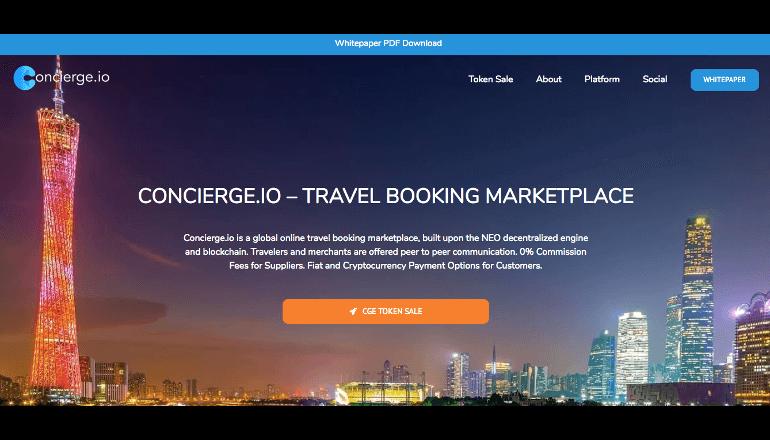 旅行の予約手数料を大幅削減、ブロックチェーン技術を活用した予約プラットフォーム『Concierge.io』