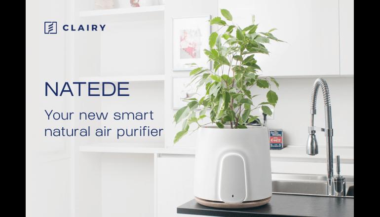 植物の力で浄化する次世代の空気清浄機「NATEDE」