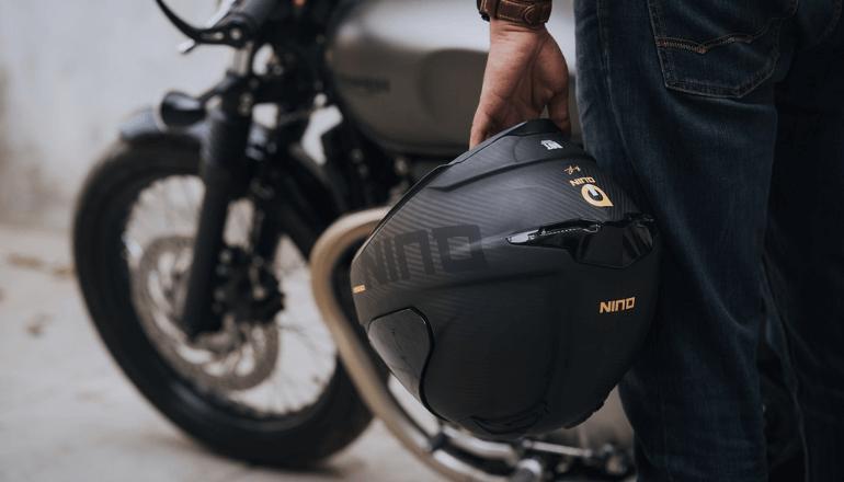 スマートテクノロジーでバイクヘルメットをハイテク機器に「Quin Helmets」
