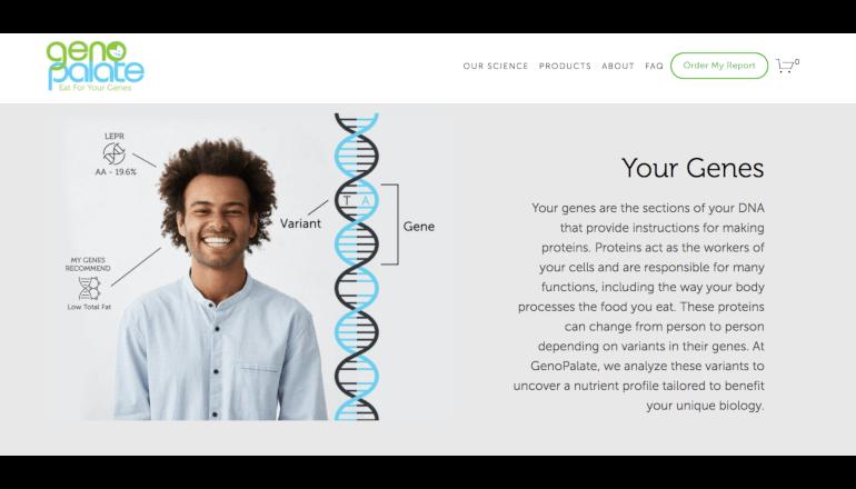 DNA検査データで個人向けの栄養管理を行うGenoPalate
