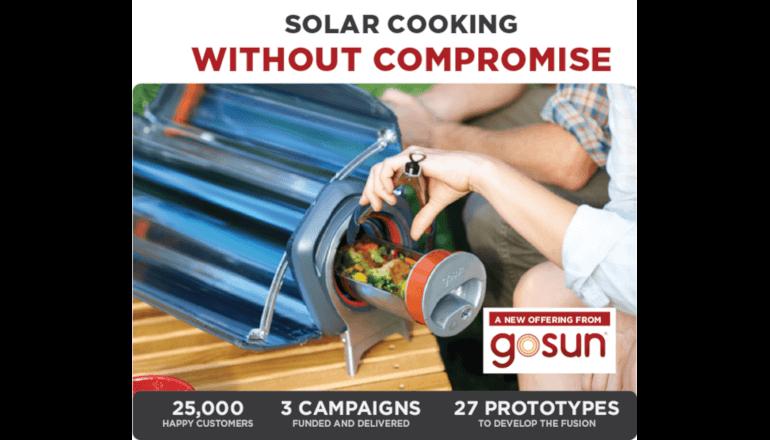 ソーラーパワーで調理ができるアウトドアオーブン「GoSun」