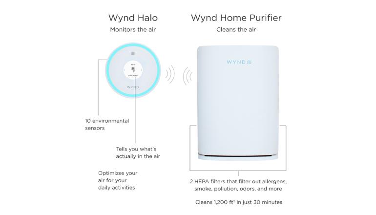 空気清浄機と空気モニタリングの相乗効果。「Wynd Halo + Home Purifier」