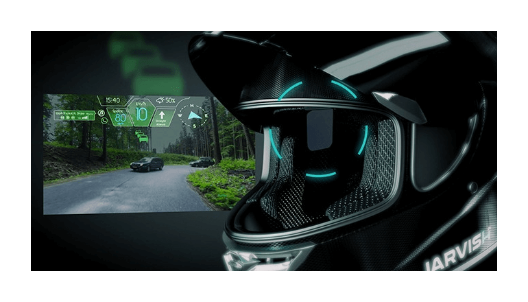 バイクの運転に必要な機能全て搭載するヘルメット「JARVISH」
