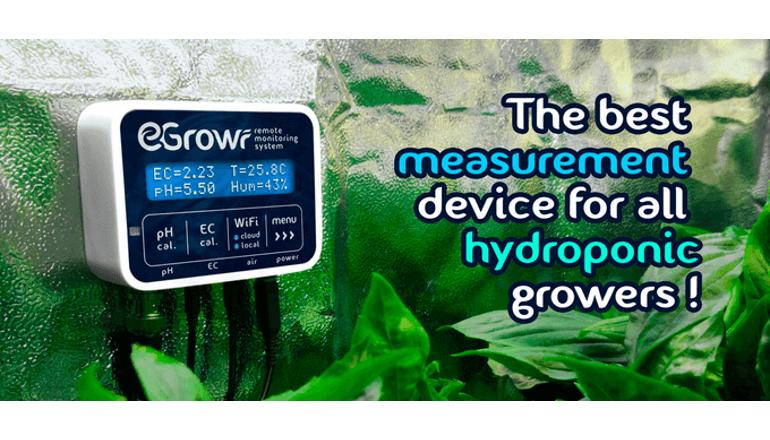 簡単なデバイスでスマートな水耕栽培を実現「EGROWR」