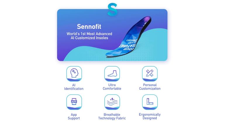AIによるカスタマイズフィットが特徴の次世代ソール「SennoFit」