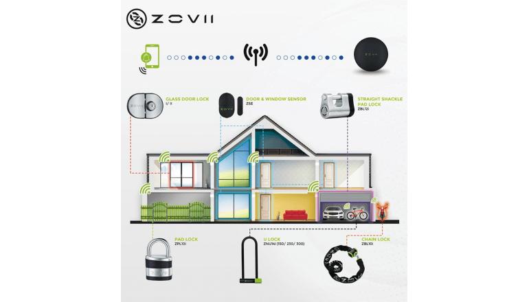 ワイヤレスで設置もお手軽なホームセキュリティ「Zovii」