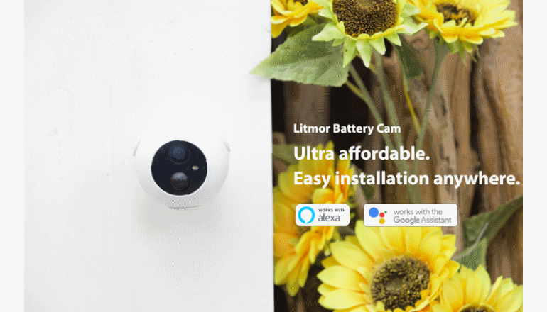 誰でも気軽に高性能なセキュリティカメラを入手「Litmor Battery Cam」