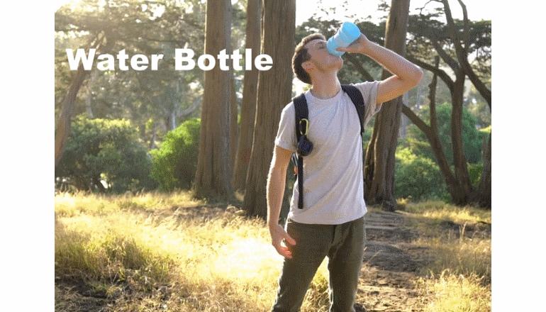 折りたたみ可能、充電可能なウォーターボトル「The BrightBottle」