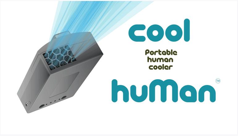 体に取り付けられるポータブルクーラー「Cool Human」