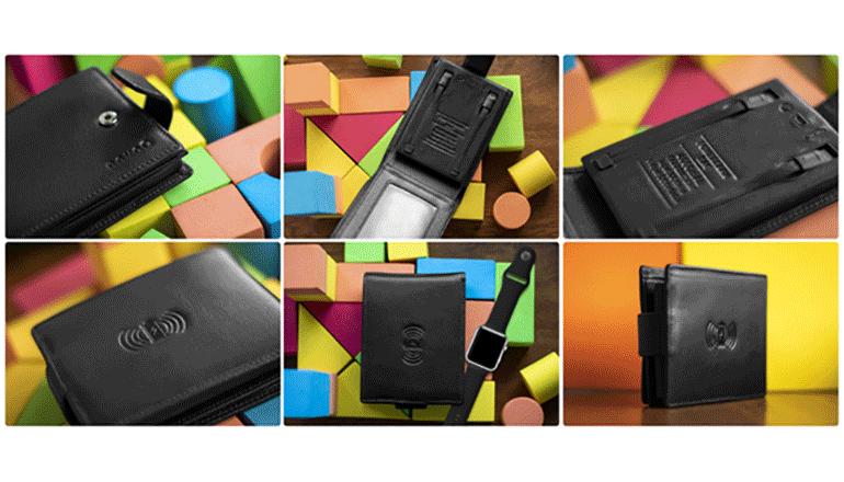 ワイヤレスでパワフルな充電を可能にする財布「nevoQ」