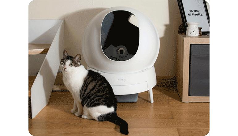 ネコのトイレ掃除もこれで楽々「Aimicat」