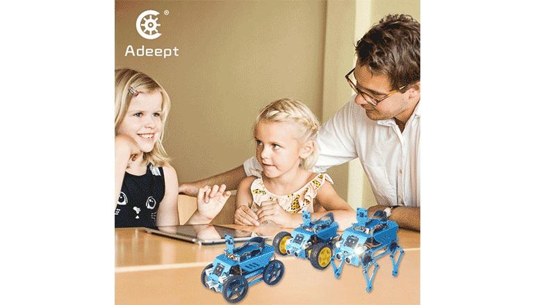 全年齢対象のSTEM教育をロボットで学ぼう「Adeept」