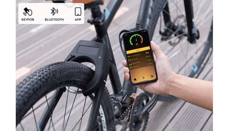 スマートで軽量な防犯機能と便利なソーラーチャージが魅力のバイクロック「WeeyLock」