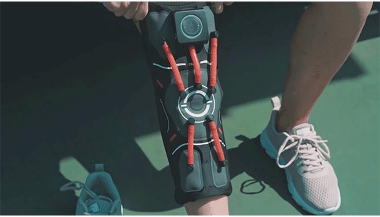 カスタマイズと自動調節を可能にしたスマートな膝サポーター「E-Knee」