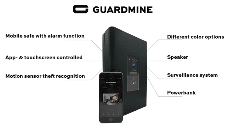 スマートな貴重品管理機能とコンパクトなデザインが魅力の金庫「GUARDMINE」