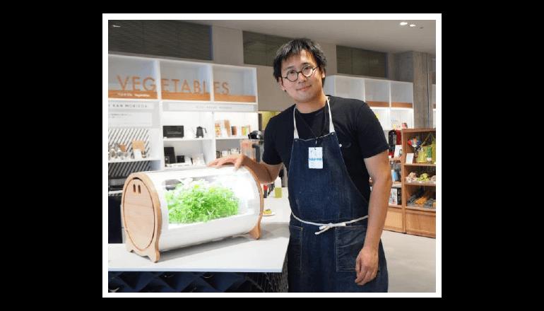 銀座ロフトで日本初のIoT水耕栽培機を展示