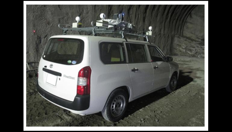 速く確かに山岳トンネル内検査
