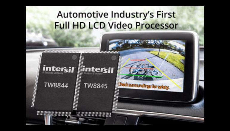 フル高精細度(HD)LCDビデオ・プロセッサを発表、インターシル