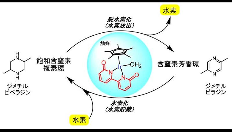 京大、イリジウム触媒を用いた水素貯蔵システムを開発