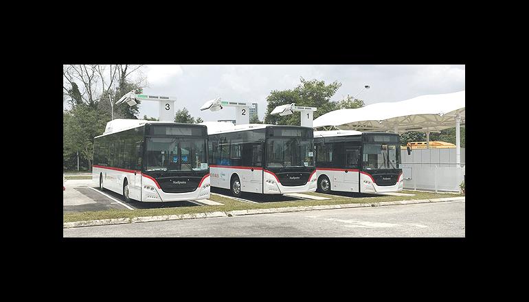首都のEVバス、10分の充電で30km走る