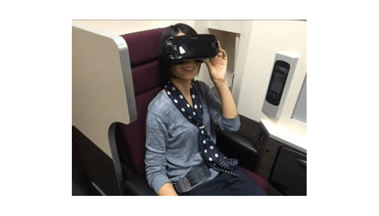 JAL、機内でのVRサービス実証実験を実施