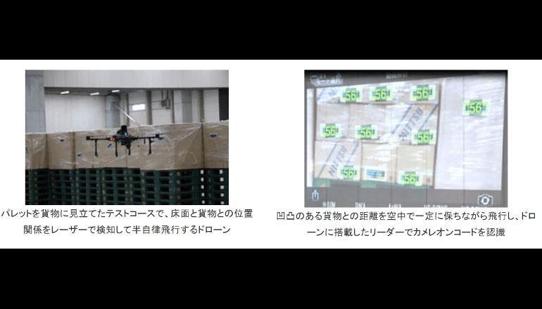 ドローンの倉庫内活用に向けた実証実験を実施、日本通運