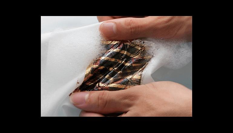 洗濯可能な超薄型有機太陽電池を開発