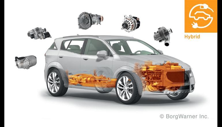 ボルグワーナー、電気自動車の燃費を向上する48V技術を自動車メーカーに供給