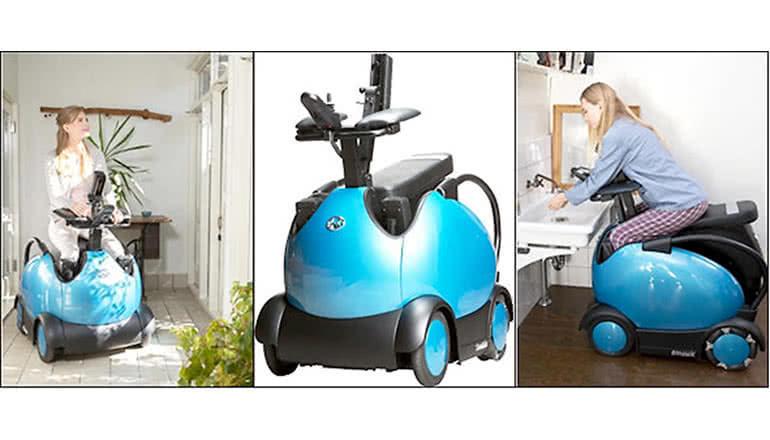 被介助者と介助者双方の負担を軽減する「車いす型ロボット」