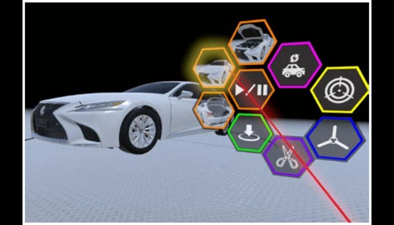新型車の技術講習、VRで各国拠点と超リアルに実施