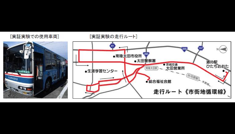 路線バスの自動運転化の技術開発に向けた実証実験