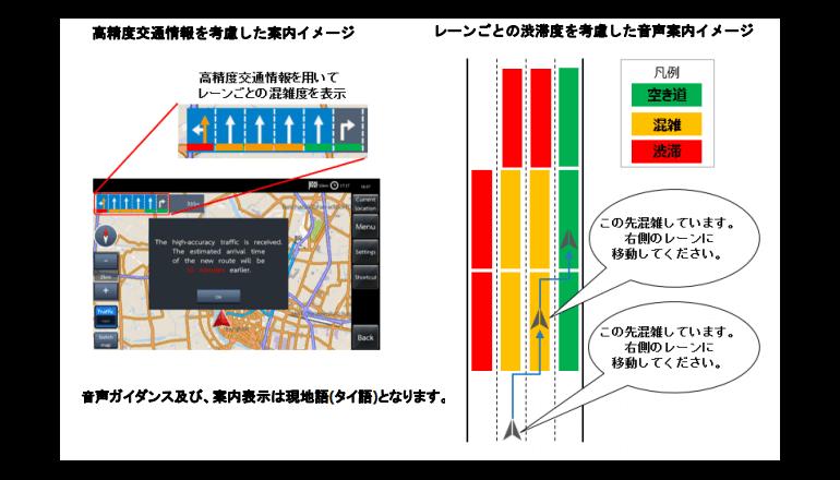 日本の準天頂衛星により、バンコクの道を高精度に案内する