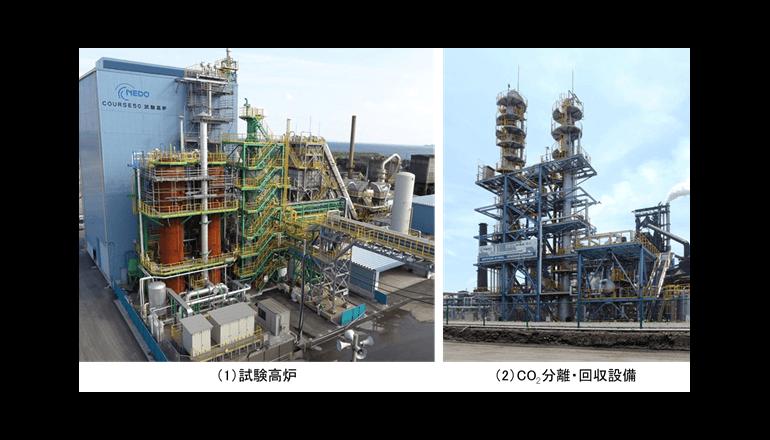 世界最大の試験高炉でCO2削減、高炉ガスからの分離回収も