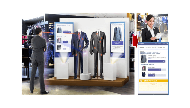 洋服の青山、来客者の心理をAIで推定する実証実験