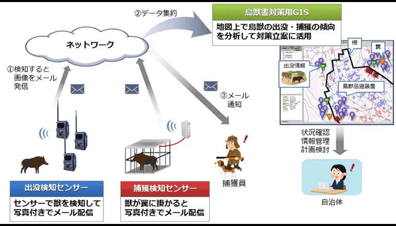 ICT活用事例、鳥獣による農作物被害を減らす