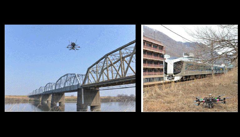 ドコモと東武鉄道、ドローンを活用した鉄道インフラ点検を実施
