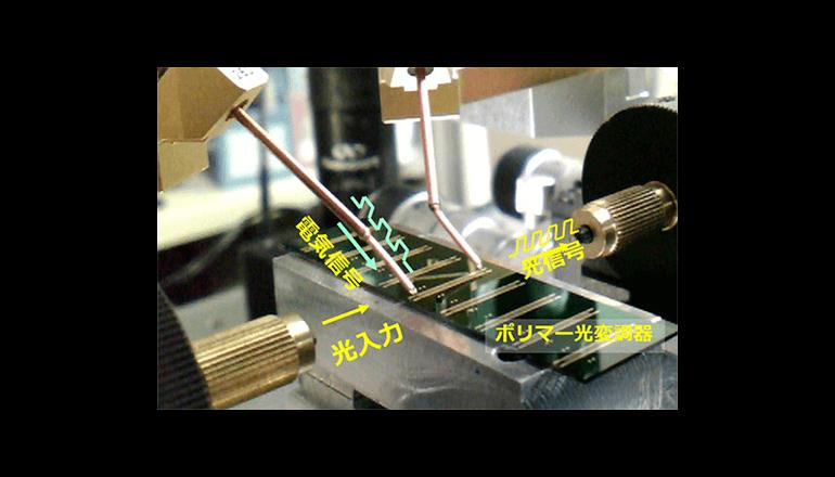 新たなポリマー光変調器で世界最高速のデータ伝送を実現!