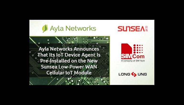 IoTデバイス向けセルラー通信モジュールを発表、Ayla Networks