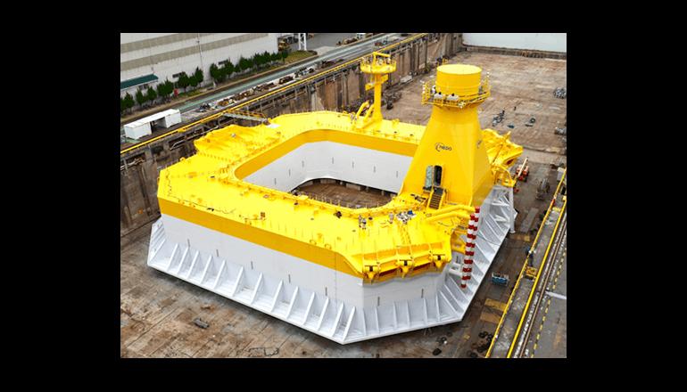 洋上風力発電システムの実証機を北九州市沖に設置、NEDOと日立造船
