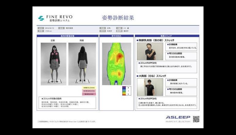 最適なマットレスを薦める姿勢診断システムを発表