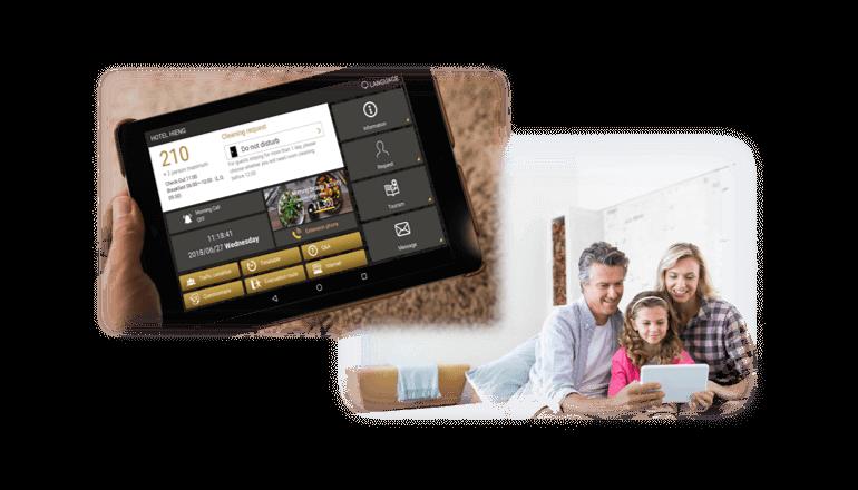 客室タブレットを活用したホテル向けIP-PBXサービス