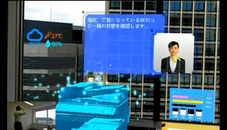 AIと会話しながらMR空間で作業に没頭する