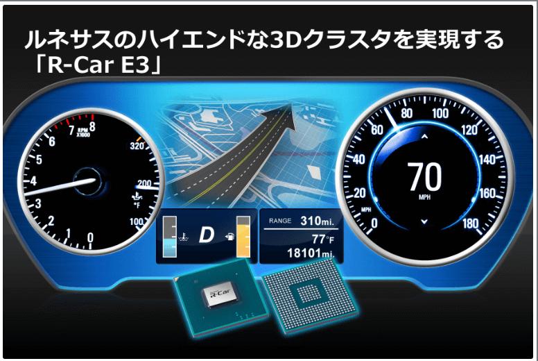 ルネサス、ハイエンド3Dクラスタ用「R-Car E3」を発表