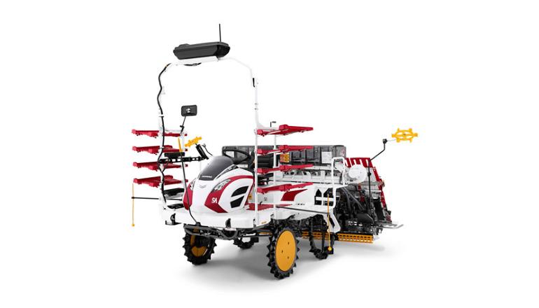持続可能な農業の発展に向け、高精度作業を可能にするオート田植機